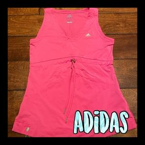 ⭐️ADIDAS⭐️Bright pink sports top with drawstring